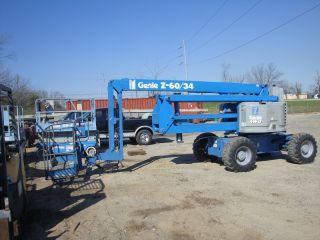 1999 Genie Z - 60/34 4x4 60 ' Articulated Manlift W/ Jib photo