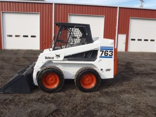 1995 Bobcat 763 Skid Steer Loader Only 3492 Hours Runs Great Great Price Look photo