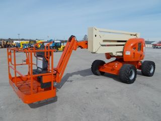 Jlg 450aj Aerial Manlift Boom Lift Man Articulating Boomlift 45 ' Lift With Jib photo