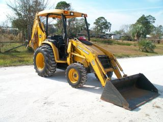 2007 John Deere 110 4x4 Loader/backhoe W/rear Aux.  Hyds. photo