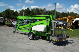 Nifty Tm40 46 ' Towable Boom Lift,  21 ' Of Outreach,  46 ' Work Height,  Bi Energy,  New photo