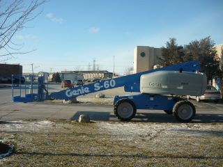 2007 Genie S - 60 4x4 Boomlift Man Lift Boom Aerial Telescopic Boom Diesel photo