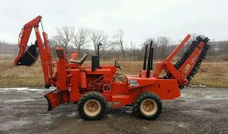 Ditch Witch R65 Double Duty Trencher With Backhoe And Dozer Blade photo