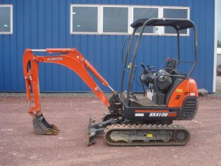 2011 Kubota Kx41 Mini Excavator Adjustable Tracks Only 283 Hours photo