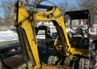 2007 Caterpillar 302.  5c Mini Excavator Low Hours Rubber Tracks Dozing Blade Gd photo