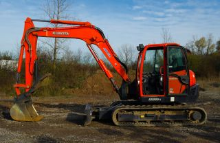 2009 Kubota Kx080 - 3 Excavator,  A/c,  Angle Blade,  And Thumb. photo