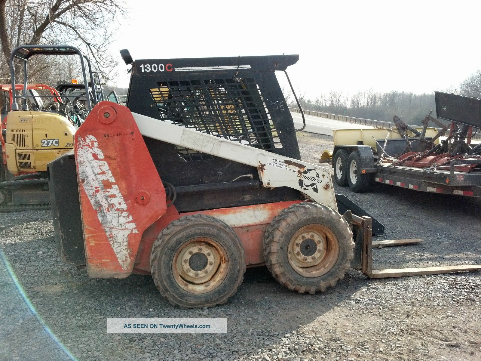 2000 Scat Track 1300 C Skidsteer Skid Steer Loader Bobcat Forks Perkins Diesel Skid Steer Loaders photo