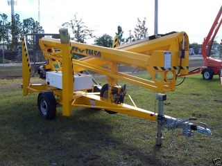 Nifty Tm50 56 ' Towable Lift,  28 ' Outreach,  Battery Powered For Indoor Use,  New photo