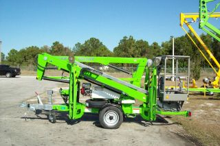 Nifty Tm34t Telescopic Boom Lift,  40 ' Gas Powered,  New 2012,  1000 Miles photo