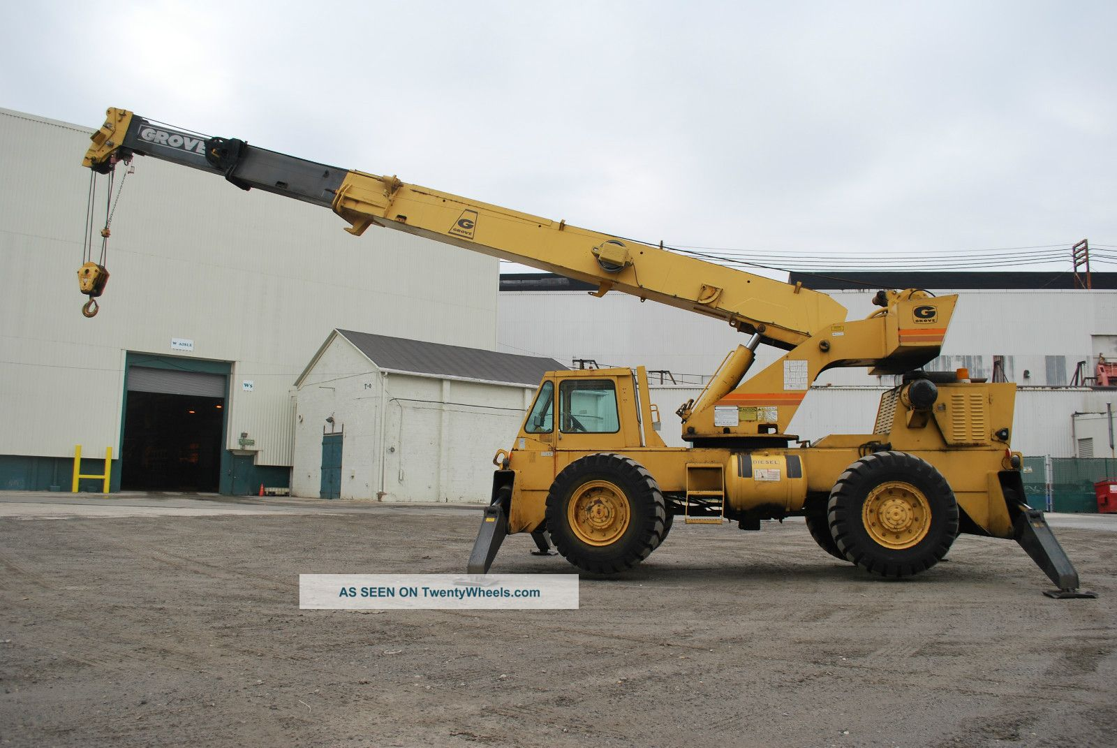 Grove 18 Ton Crane Rough Terrian 60 39 Boom Rt58b Lift We