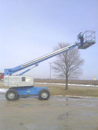 Genie S60 Boom Lift Man Boomlift Scissor Aerial Cherry Picker Truck Stick 4x4 photo