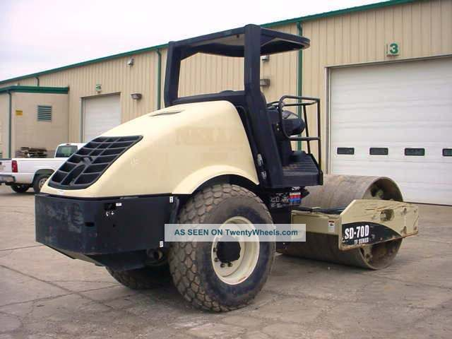 2008 Volvo Ingersoll Rand Sd70d Tf Smooth Drum Roller Compactor,  Only 151 Hrs Compactors & Rollers - Riding photo