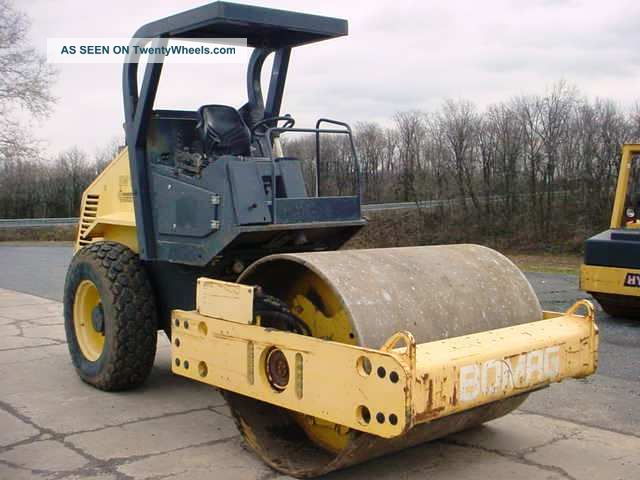 2005 Bomag Bw177d - 3 Vibratory Smooth Drum Roller Compactor,  Only 1177 Hrs Compactors & Rollers - Riding photo