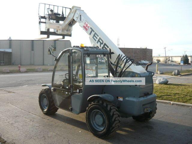 2006 Terex Genie Tx 5519 Compact Reach Forklift Telehandler Serviced Full Cab Lifts photo