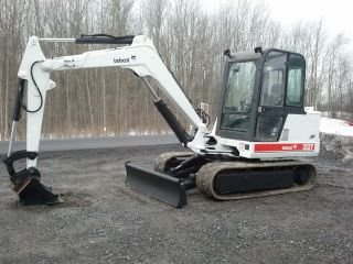 1999 Bobcat 337 Excavator Dozer Backhoe Kubota Diesel photo