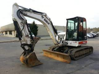 Bobcat 442 Excavator Hvac Bucket Diesel 8 Ton And Thumb Clamp photo