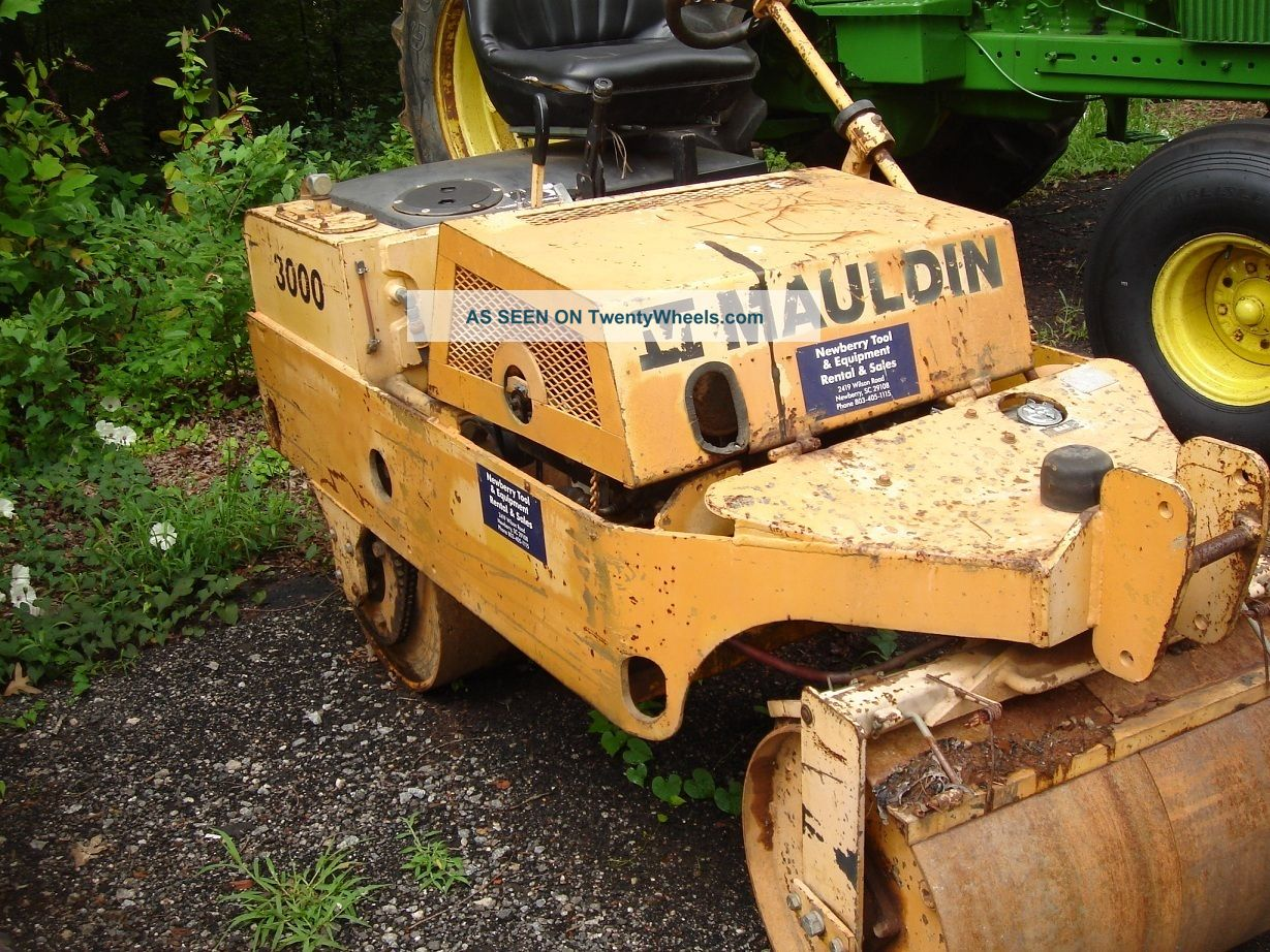 Mauldin Model 3000 Tandem Drum Vibratory Roller Compactors & Rollers - Riding photo