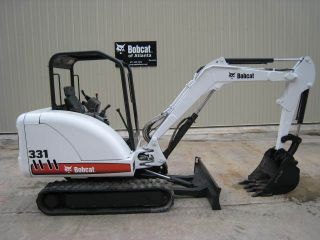 2006 Bobcat 331,  40hp,  7185lbs,  Open Cab,  New Paint,  New Tracks,  2039 Hrs photo