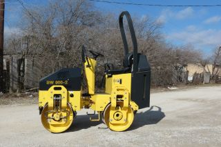 2010 Bomag Bw900 - 2 Compactor Roller Vibratory Smooth Drum 124 Hours Dfw Texas photo