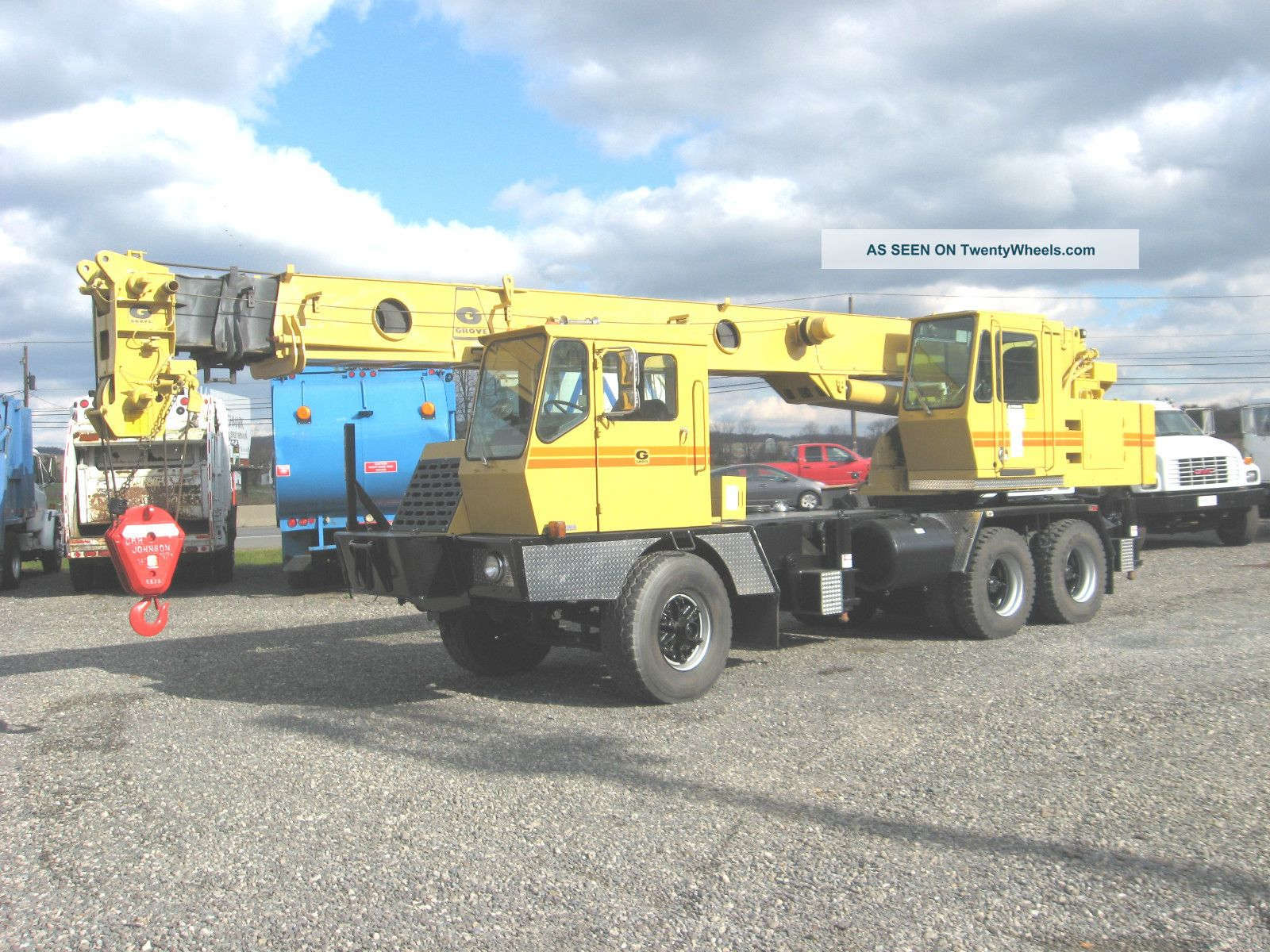 1978 Grove Tms520b,  20 Ton Hydraulic Truck Crane Cranes photo