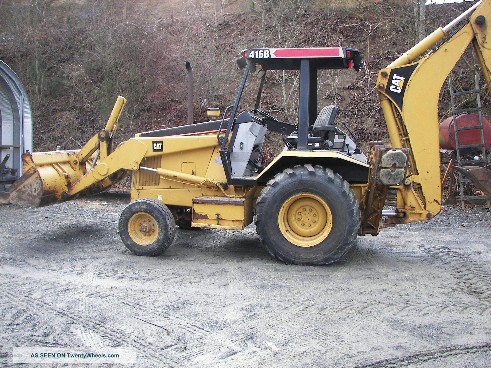 Tractor Loader Backhoe : Cat b tractor loader backhoe