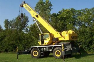 2003 Grove Rt600e Full Power Boom Crane With 6816 Hours photo