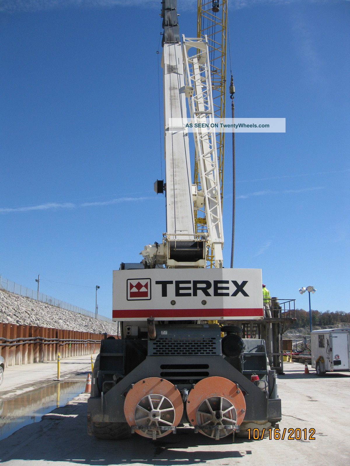 2nd Price Reduction 2009 Terex 55 Ton Rough Terrain Crane W/110 ' Boom Cranes photo