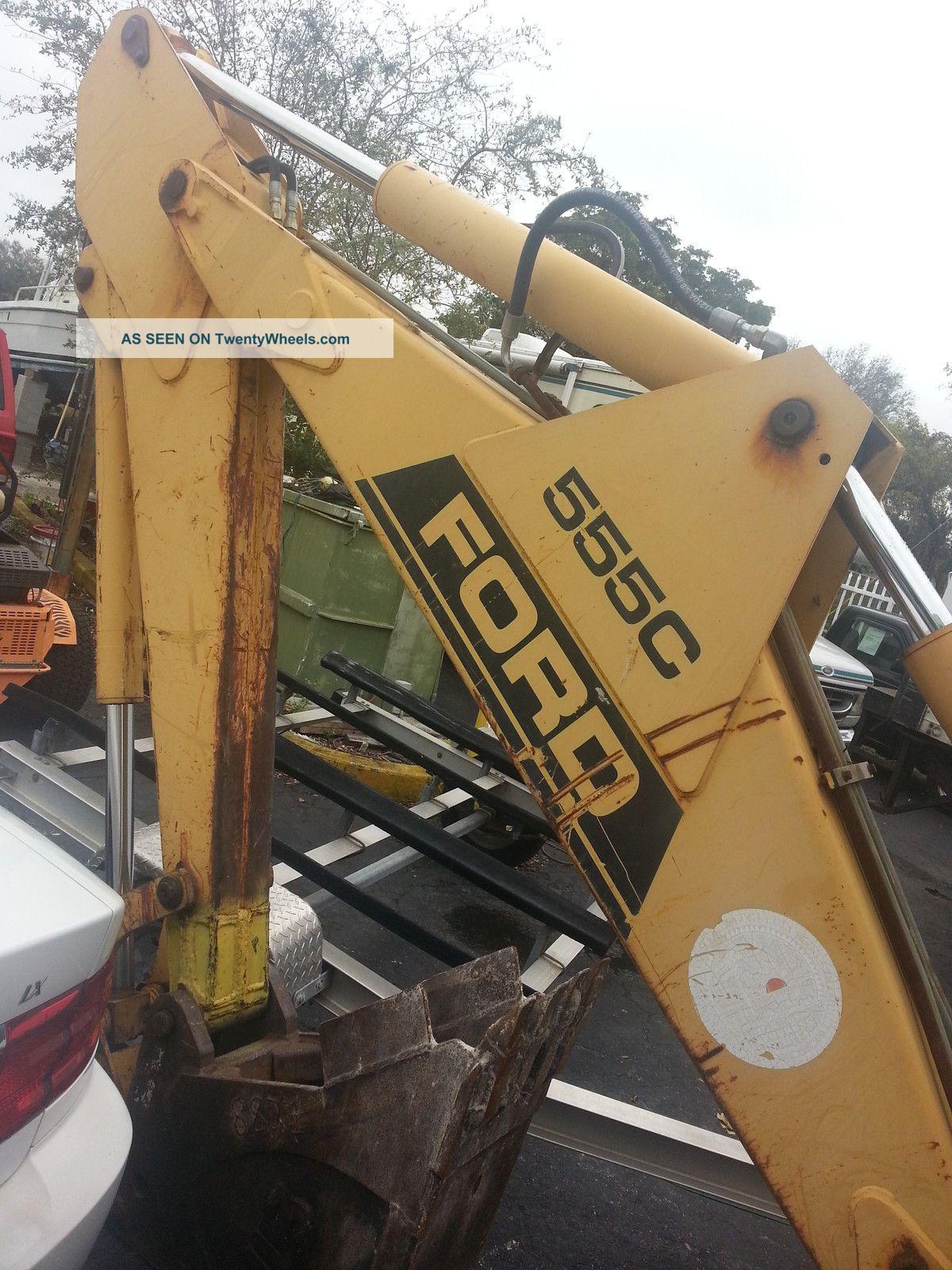 Ford 555c Backhoe Parts : Ford c tractor loader backhoe diesel runs awesome