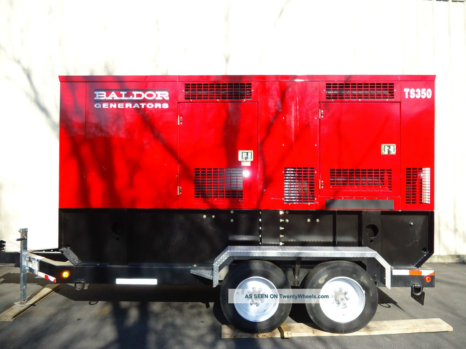 Baldor Ts350t Towable Generator With Trailer