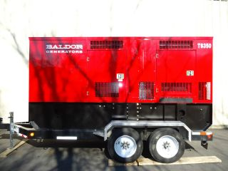 Baldor Ts350t Towable Generator With Trailer. photo