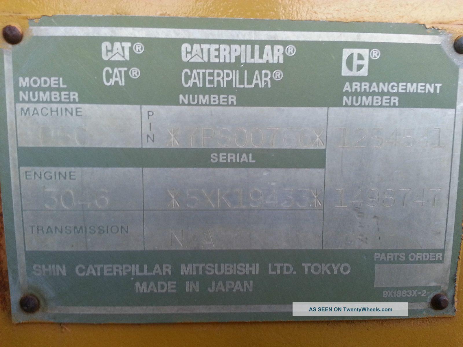 2001 Cat D5c Xl Hystat Caterpillar Bulldozer Dozer Heater