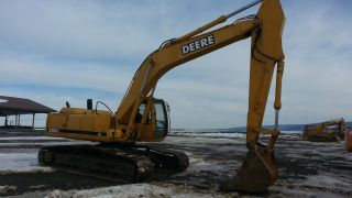 1996 John Deere 230 Lc Excavator Tractor Diesel Machine Backhoe Loader. . . photo
