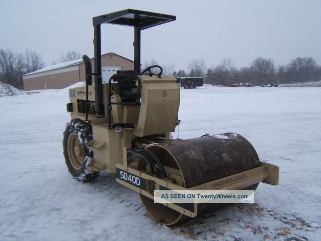Ingersoll Rand Sd40d Compaction Roller Compactors & Rollers - Riding photo