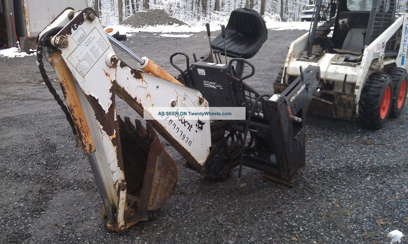 Skid Steer Backhoe : Bobcat skid steer loader with backhoe attachment