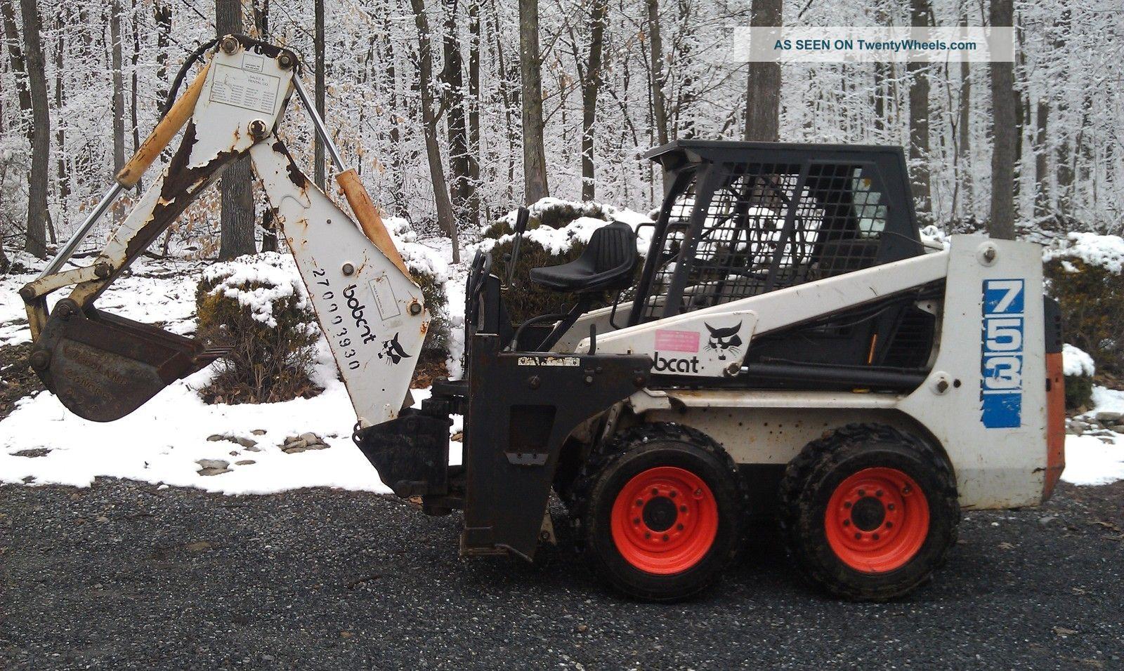 Bobcat 753 Skid Steer Loader With 709 Backhoe Attachment