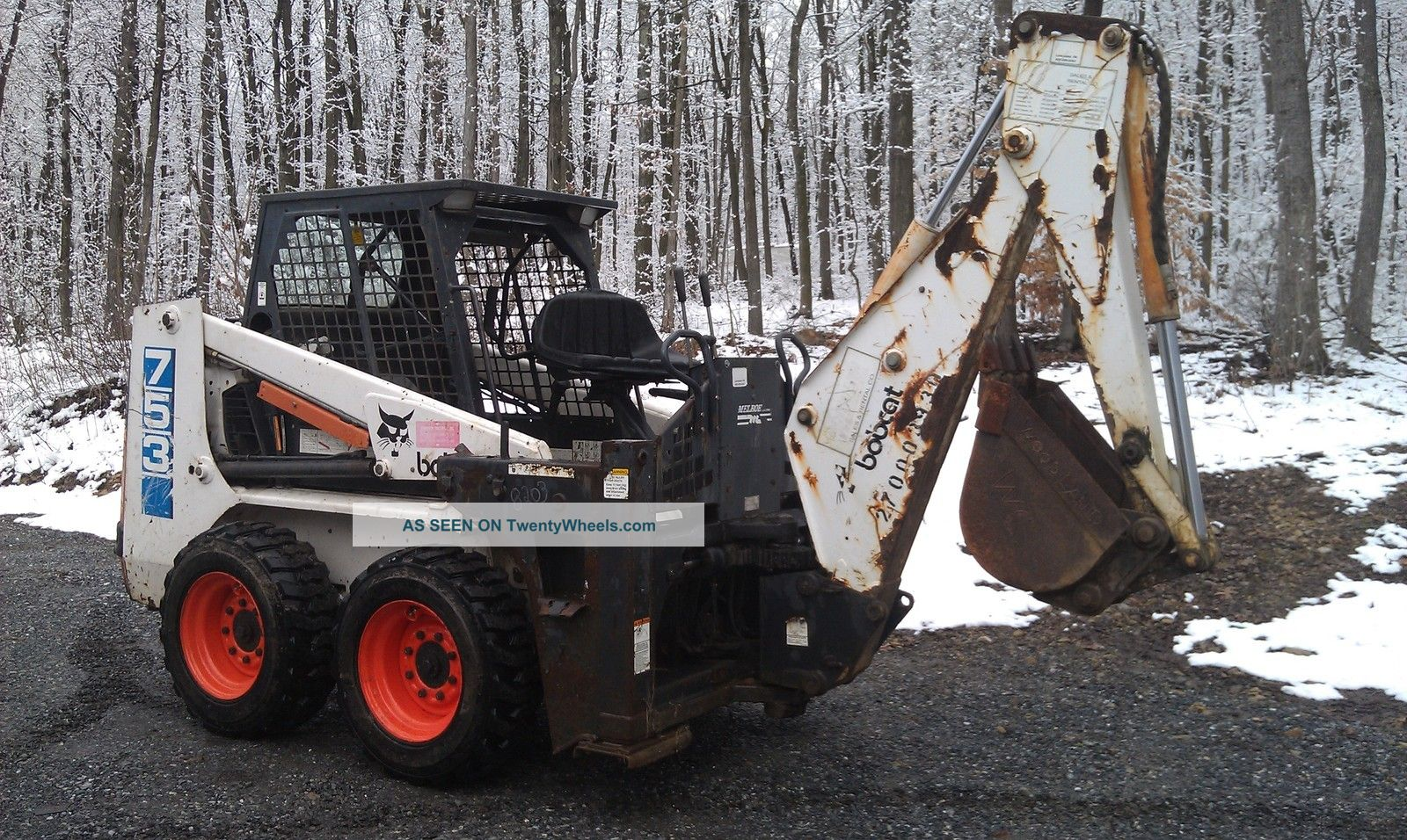 Bobcat 753 Skid Steer Loader With 709 Backhoe Attachment