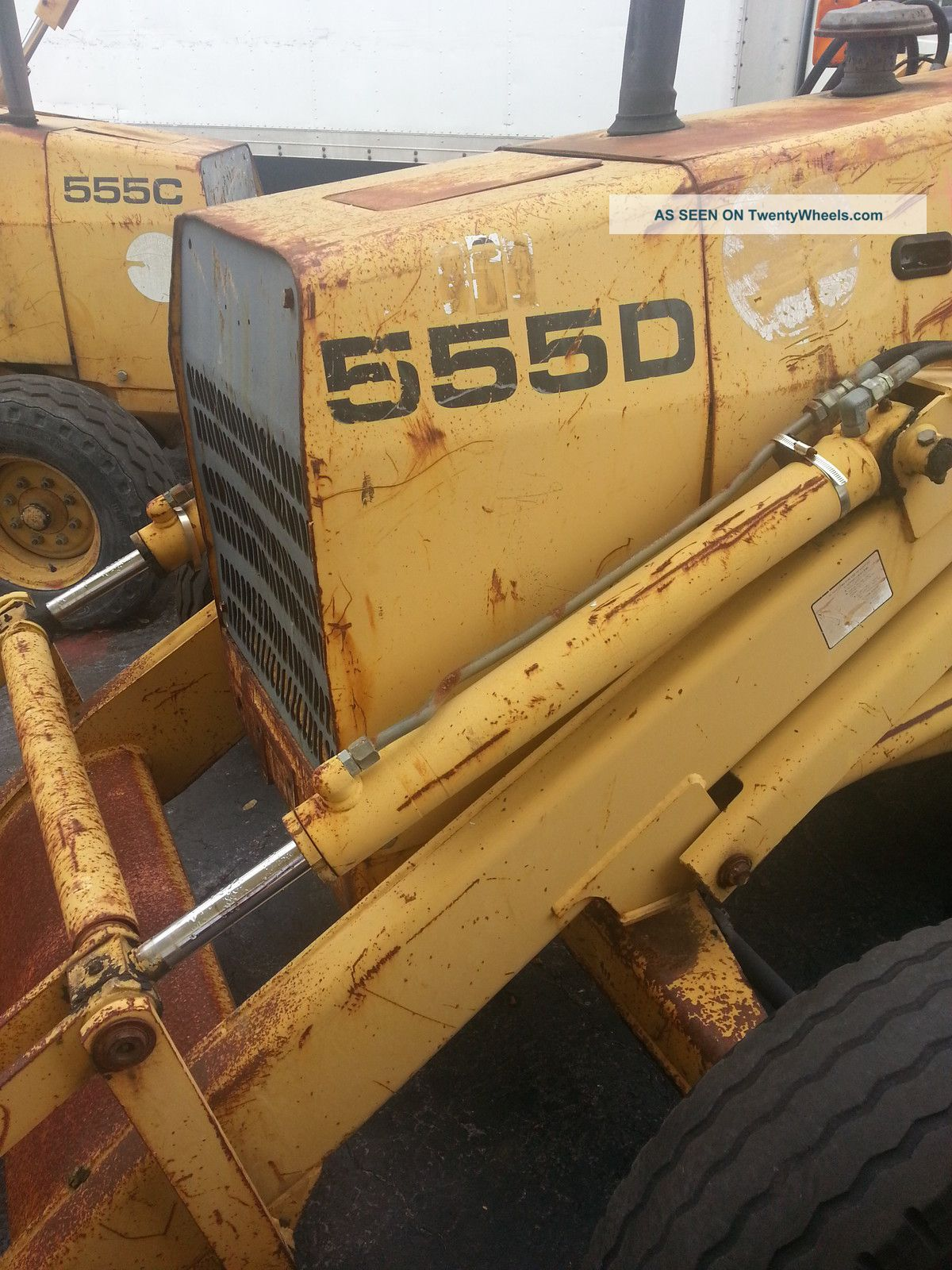 ford  tractor loader backhoe diesel runs awesome