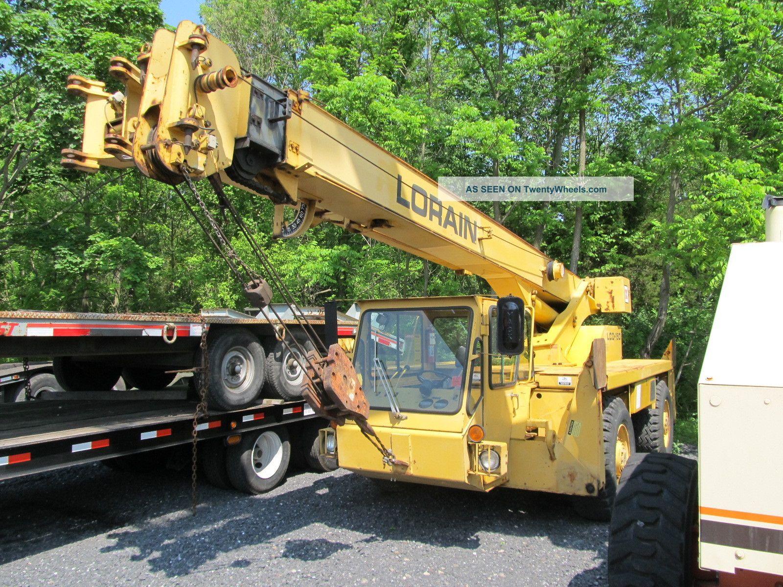1989 Lorain Lcd150 Truck Crane W/ 1,  767 Hours,  15 Ton Capacity,  15 ' Jib Cranes photo
