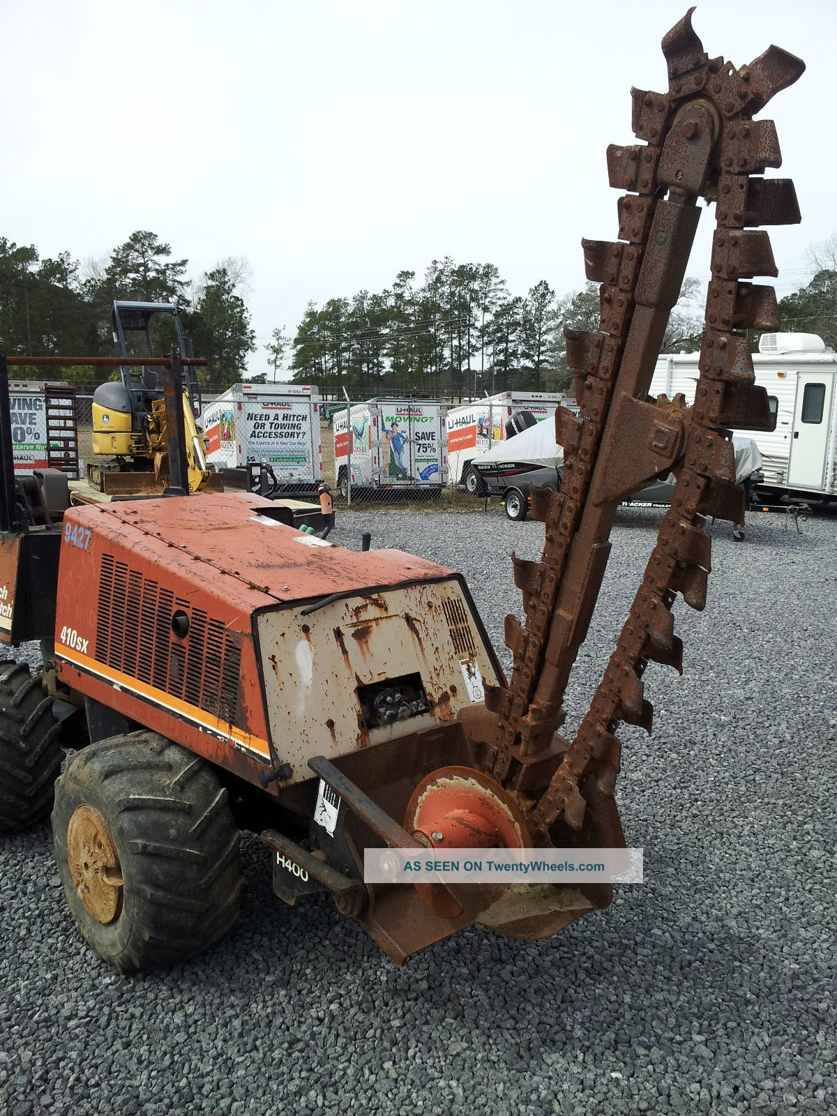 Ditch Witch 410sx Trencher/plow,  Boring Attachement/rods And Trailer Trenchers - Walk Behind photo
