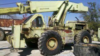Crane. . .  Pettibone Multi - Krane 30 Ton Low Hours Must Go photo