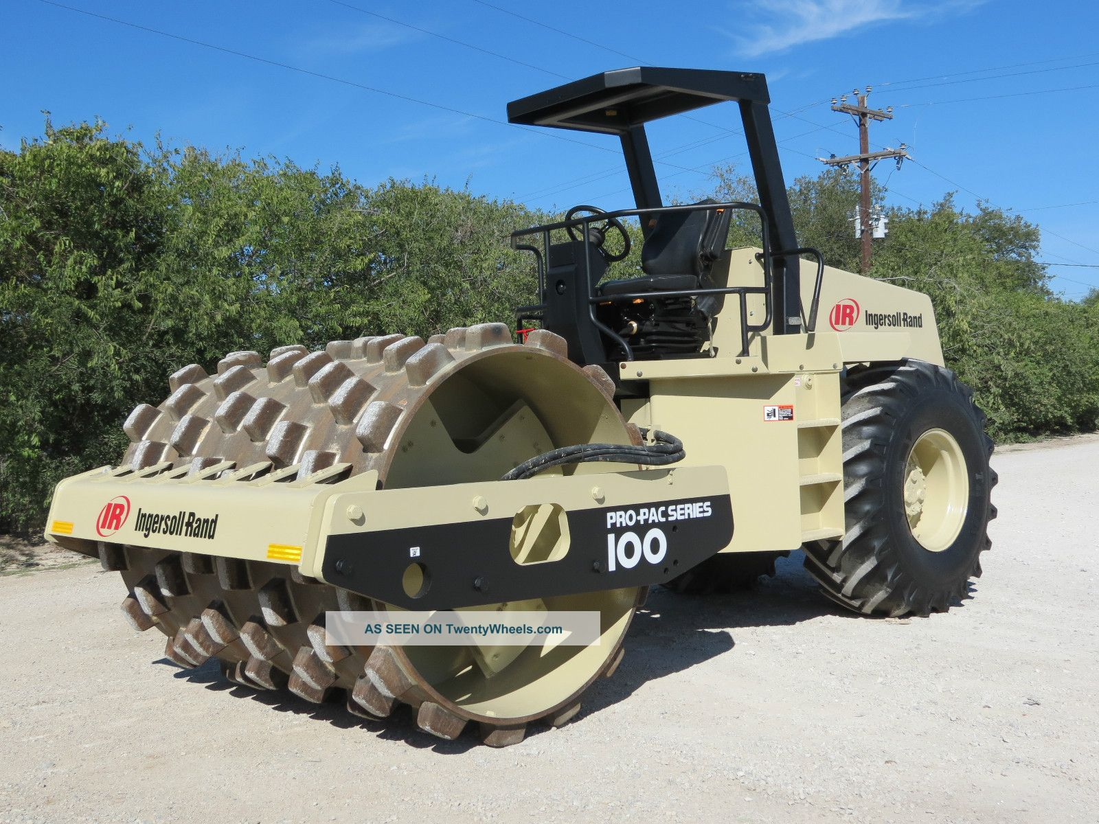 Ingersoll Rand Sd100 F Pro - Pac Series Vibratory Padfoot Compactor Roller Dfw Tx Compactors & Rollers - Riding photo