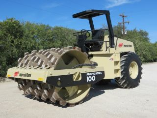 Ingersoll Rand Sd100 F Pro - Pac Series Vibratory Padfoot Compactor Roller Dfw Tx photo