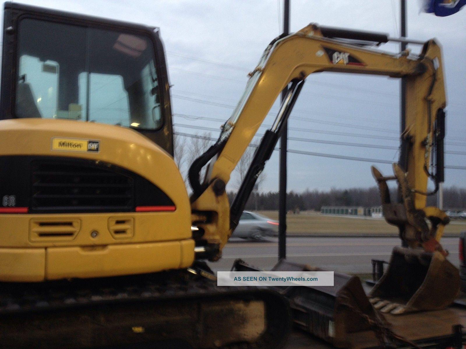 2007 Caterpillar 305c Cr Excavator Cab Heat Heat A/c Quick