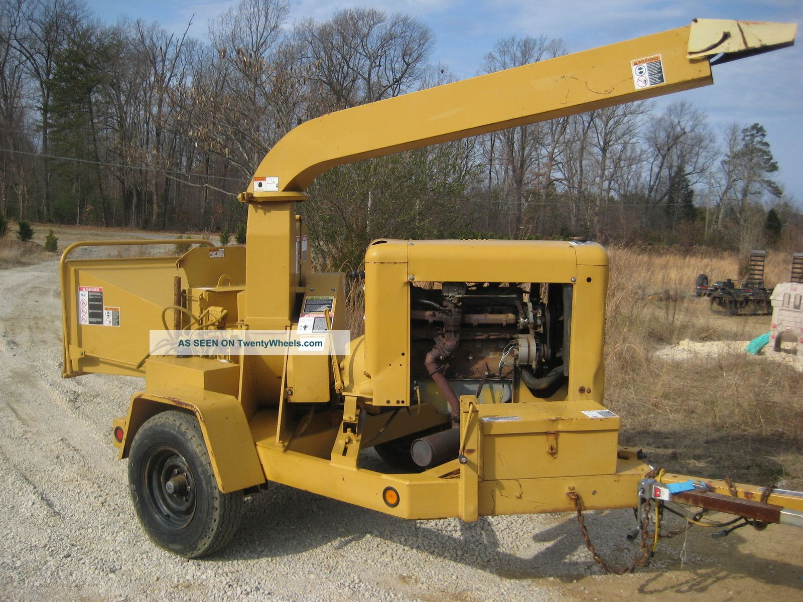 Woodchuck Wc17 Disc Chipper 300 Ford Gas Hydraulic Feed Wheels