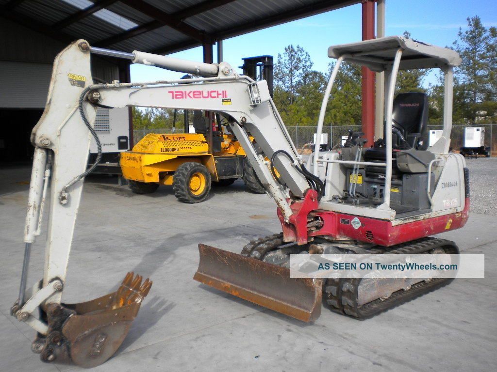 2008 Takeuchi Tb125 Excavator Yanmar Diesel 1,  587 Hours Excavators photo