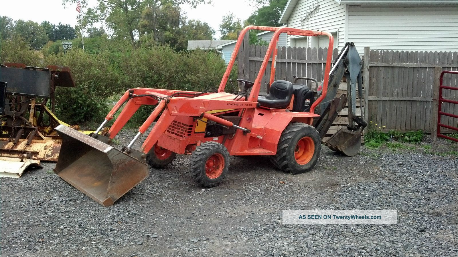 2001 Allmand Tlb25d Contractor Mini Backhoe Excavator 25 Hp Kubota