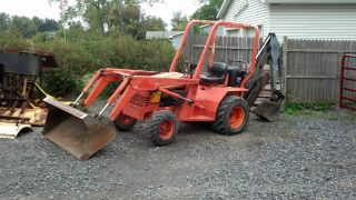 2001 Allmand Tlb25d Contractor Mini Backhoe Excavator 25 Hp Kubota Diesel photo
