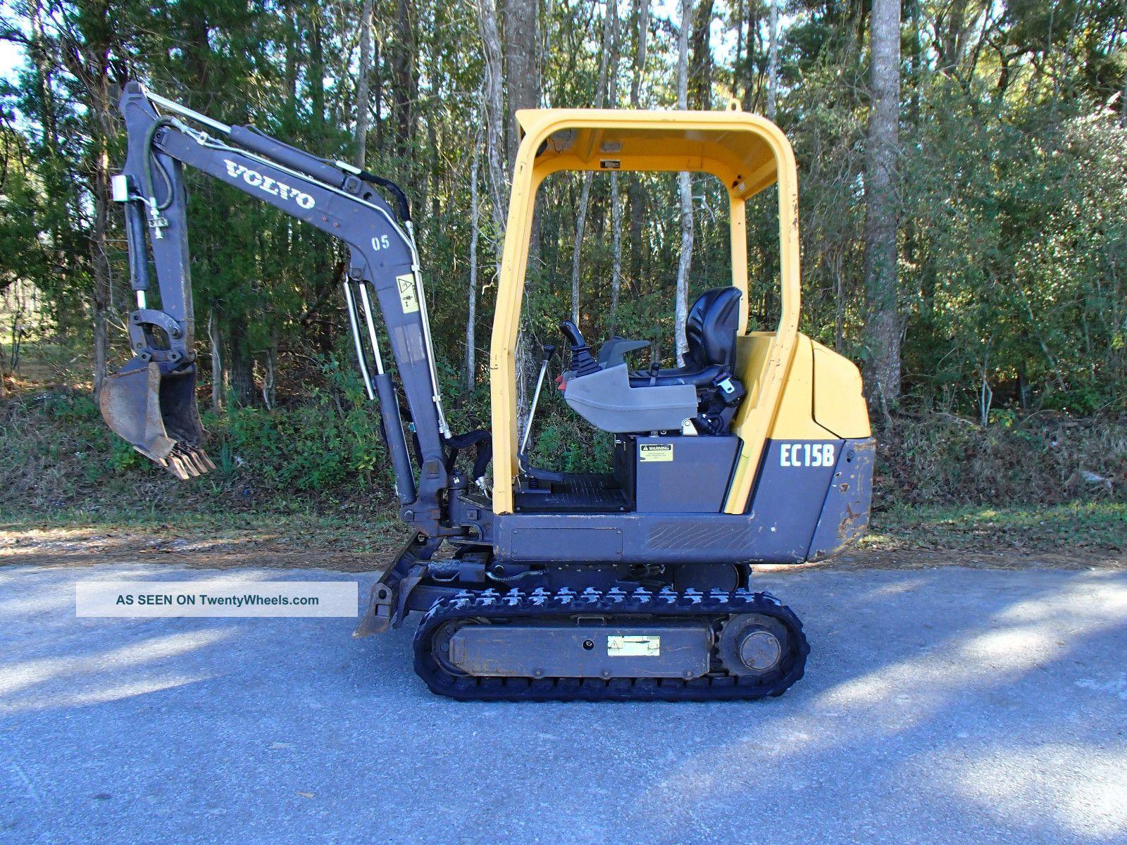Mini Construction Equipment : Volvo ec b mini excavator construction heavy equipment