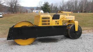 Hyster C340c Smooth Drum Roller Cummins Diesel Engine Tandem Roller photo