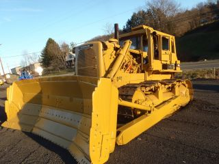 1972 Caterpillar D9g Crawler Dozer Bull Dozer Runs Good Will Help With Export photo